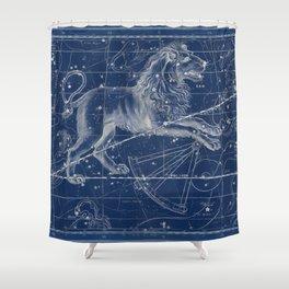 Leo sky star map Shower Curtain