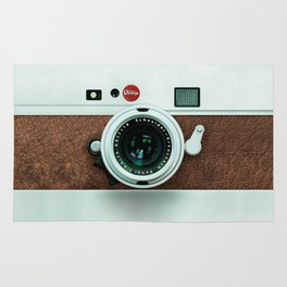 Retro vintage leather camera Rug