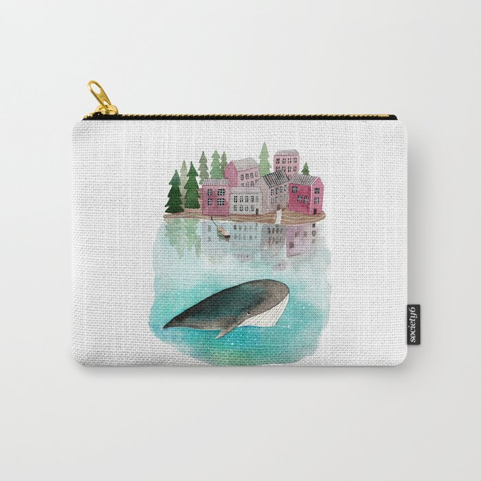 A whale is passing by Carry-All Pouch