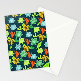 Cheerful plants Stationery Cards
