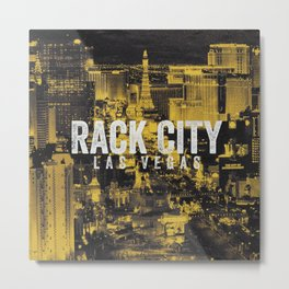 Black Yellow Cool Rack City Las Vegas Photography Metal Print