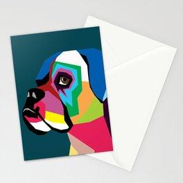 dog bulldog Stationery Cards