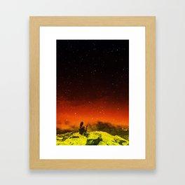 Burning Hill Framed Art Print