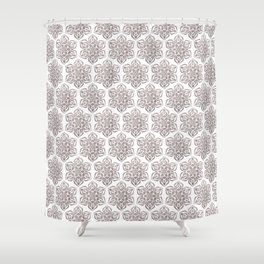 Silver Snowflake Shower Curtain