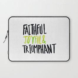 Faithful Joyful and Triumphant x Lime Laptop Sleeve
