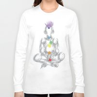 chakra Long Sleeve T-shirts featuring chakra meditation by Kyle Ellsworth