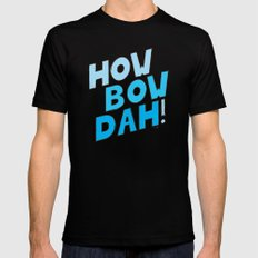 HOW BOW DAH! Blue Colors Mens Fitted Tee MEDIUM Black