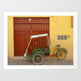 Bicycle Taxi - Puno, Peru Art Print