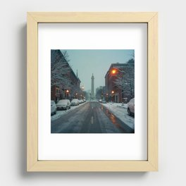 early morning, Mount Vernon Recessed Framed Print