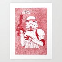 storm trooper Art Prints featuring Storm Trooper by David Penela
