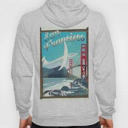 San Francisco, California Glider poster print. Hoody
