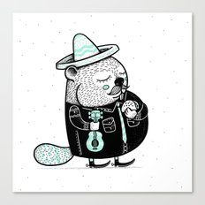 B is for Beaver Canvas Print