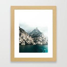 Lake Garda. Framed Art Print