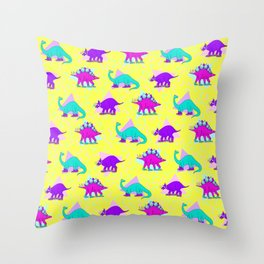 DINO KICKS Throw Pillow