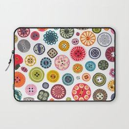 Vintage Button Love Laptop Sleeve