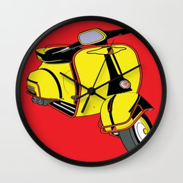 Motorino Giallo Wall Clock