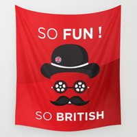 british Wall Tapestries featuring So British by 1belleimage