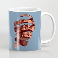 escher Mugs featuring E=M.C. Escher by Tom Burns