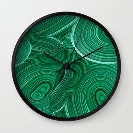 Green Malachite Nature Pattern Design Abstract Wall Clock