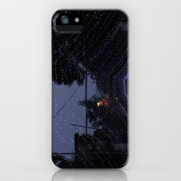 Purple lights iPhone Case