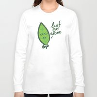 introvert Long Sleeve T-shirts featuring The introvert leaf by Picomodi