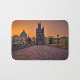 Charles Bridge Prague Czech Republic Bath Mat