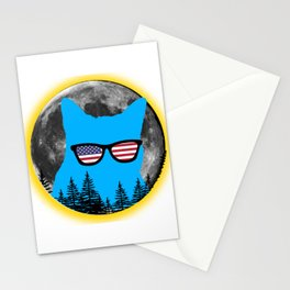 American Flag Funny Cat Stationery Cards