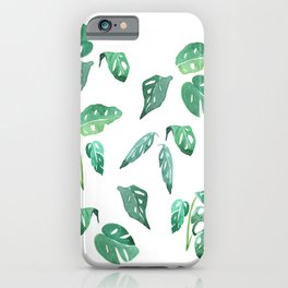 Monstera Plant Leaves iPhone Case