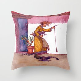 A Woolly Question Throw Pillow