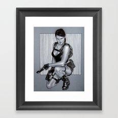 Tomb rider lara croft Framed Art Print