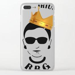 Funny Ruth Bader Ginsberg T-shirt - XMAS T-Shirt Clear iPhone Case