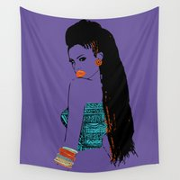 china Wall Tapestries featuring purple china by PMFstore
