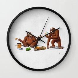 Orange Man (Wordless) Wall Clock