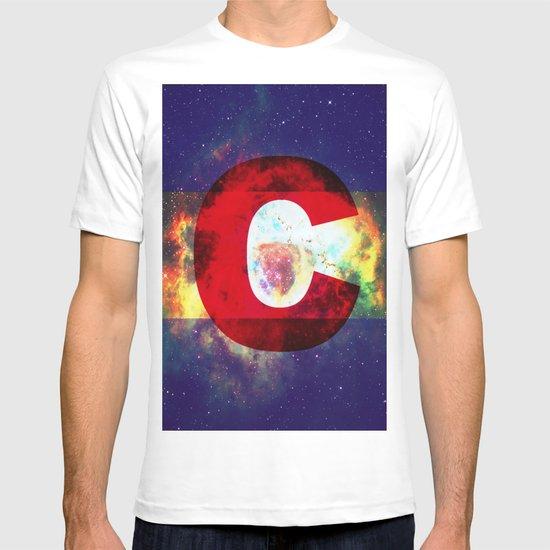 Colorado Flag/Galaxy Print T-shirt