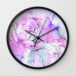 modern flowers c Wall Clock