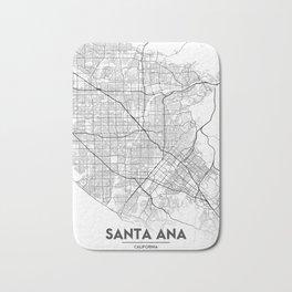 Minimal City Maps - Map Of Santa Ana, California, United States Bath Mat