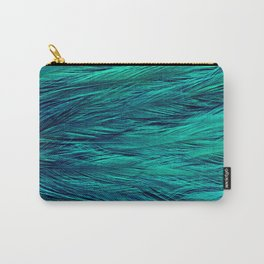 Teal Feathers Carry-All Pouch