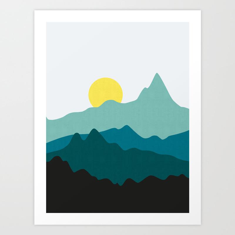 Minimalist Landscape Vii Art Print By Thespiritofart Society6
