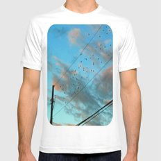 Migration Mens Fitted Tee White MEDIUM
