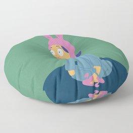 Louise in her bunny slippers Floor Pillow