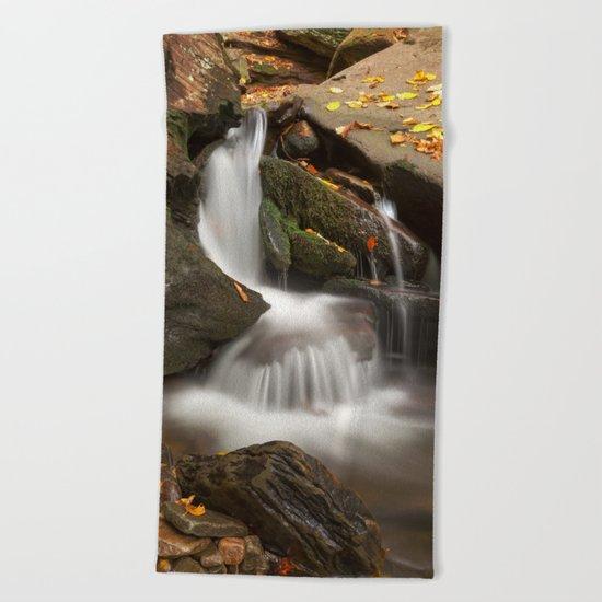 Crescent Crater Falls Beach Towel