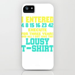 Dream Plan Execute T-shirt Design Lousy shirt iPhone Case