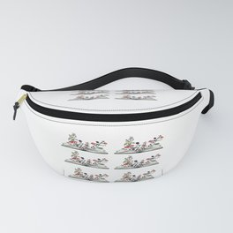 flowers growing from book Fanny Pack