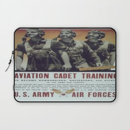 Vintage poster - Aviation Cadet Training Laptop Sleeve