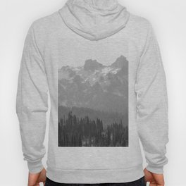 Go Beyond - Black and White Wilderness Nature Photography Hoody