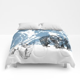 Bears family print Comforters