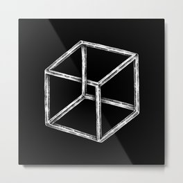 Another Cube Metal Print