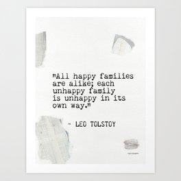 Leo Tolstoy quote 5 Art Print