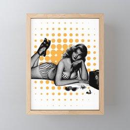 Retro pin up girl Framed Mini Art Print