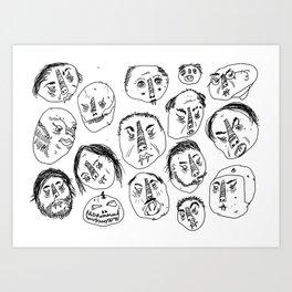 Horrible Faces Art Print